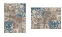 "Global Rug Designs Haven Hav07 Beige and Blue 5'3"" x 7'2"" Area Rug"