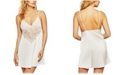 iCollection Ultra Soft Lace Trimmed Knit Chemise