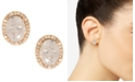 lonna & lilly Gold-Tone Stone & Crystal Halo Stud Earrings