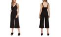 Black Tape Faux-Wrap Culotte Jumpsuit
