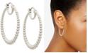 """AVA NADRI Medium Graduated Bead Hoop Earrings, 1.25"""""""
