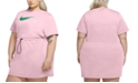 Nike Plus Size Drawstring-Waist Logo Dress