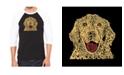 LA Pop Art Dog Men's Raglan Word Art T-shirt