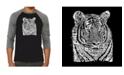 LA Pop Art Big Cats Men's Raglan Word Art T-shirt