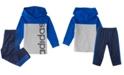 adidas Baby Girls Long Sleeve Colorblock Hooded Tee Set