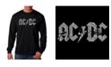 LA Pop Art Men's AC/DC Word Art Long Sleeve T-shirt