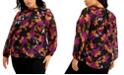 Calvin Klein Plus Size Floral Print Top