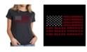 LA Pop Art Women's Premium Blend T-Shirt with God Bless America Word Art