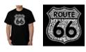 LA Pop Art Men's Route 66 Life is a Highway Word Art T-Shirt