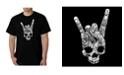 LA Pop Art Men's Heavy Metal Genres Word Art T-Shirt
