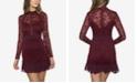B Darlin Juniors' Lace Ruffle Slim Dress