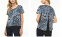 Michael Kors Plus Size Arabesque Paisley-Print Top