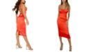 QUIZ Lace-Up-Back Cowlneck Dress