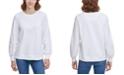 Calvin Klein Ruched-Sleeve Sweatshirt