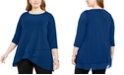 Alfani Plus Size Crossover-Hem Tunic Top, Created for Macy's