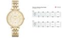Fossil Women's Jacqueline Gold-Tone Stainless Steel Bracelet Watch 36mm ES3547