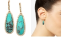 lonna & lilly Gold-Tone Stone and Crystal Drop Earrings