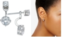 Eliot Danori Silver-Tone Double Crystal Front Back Earrings, Created for Macy's