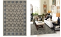 "JHB Design Tidewater Royal Garden Grey/Navy 5'3"" x 7'6"" Area Rug"