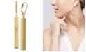 Macy's Tube Linear Drop Earrings in 14k Gold, 1 1/2 inch