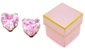 Macy's Children's 14k Gold Pink Cubic Zirconia Earrings