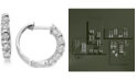Macy's Diamond Five-Stone Hoop Earrings (1/2 ct. t.w.) in 14k Gold or White Gold