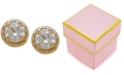 Macy's Children's Round Crystal Stud Earrings in 14k Gold