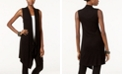 INC International Concepts I.N.C. Draped Open-Front Sweater Vest, Created for Macy's