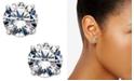 Eliot Danori Silver-Tone Crystal Stud Earrings, Created for Macy's