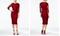 Jessica Simpson Lace Midi Sheath Dress