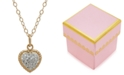 Macy's Children's 14k Gold Necklace, Crystal Heart Pendant