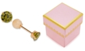 Macy's Children's Cubic Zirconia August Birthday Reversible Earrings in 14k Gold