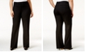 Alfani Plus & Petite Plus Size Curvy Bootcut Tummy-Control Pants,  Created for Macy's