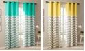 "Intelligent Design Alex 42"" x 84"" Colorblock Chevron Print Insulated Curtain Set"