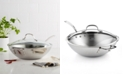 """Calphalon CLOSEOUT! Tri-Ply Stainless Steel 12"""" Covered Stir Fry"""