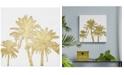 JLA Home Intelligent Design Gold Palms Foil-Embellished Canvas Print