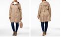 Cole Haan Plus Size Packable Water-Resistant Raincoat