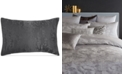 Donna Karan Home Moonscape Reversible Textured Jacquard Charcoal Standard Sham