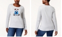 Karen Scott Petite Cotton Bear Graphic Top, Created for Macy's
