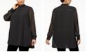 Anne Klein Plus Size Mixed-Dot Tunic