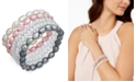 Macy's 5-Pc. Set White, Pink & Gray Cultured Freshwater Baroque Pearl (7mm) and Rondel Crystal Stretch Bracelets