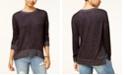 Hippie Rose Juniors' Cozy Marled Side-Zip Sweatshirt