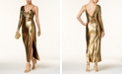 Bardot Aurel One-Shoulder Metallic Gown