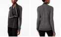 INC International Concepts INC Waffled Zip Completer Sweater, Created for Macy's