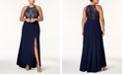 Morgan & Company Trendy Plus Size Glitter-Lace Gown