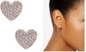 kate spade new york  Rose Gold-Tone Pavé Heart Stud Earrings
