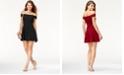 Teeze Me Juniors' Off-The-Shoulder Party Dress