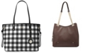 Michael Kors Gingham Large Tote, Created for Macy's
