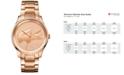 Lacoste Women's Victoria Rose Gold-Tone Stainless Steel Bracelet Watch 38mm