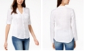 INC International Concepts INC Linen-Blend Utility Shirt, Created for Macy's